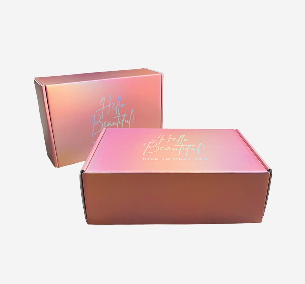 Metalized Rose Gold Boxes