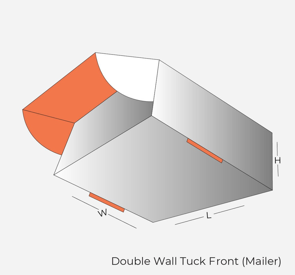 Custom Double Wall Tuck Front Mailer