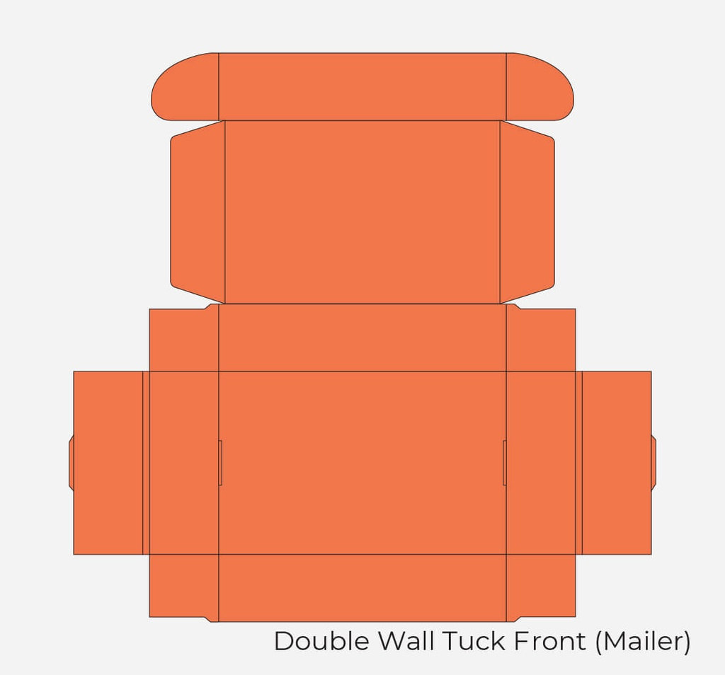 Double Wall Tuck Front Mailer Wholesale