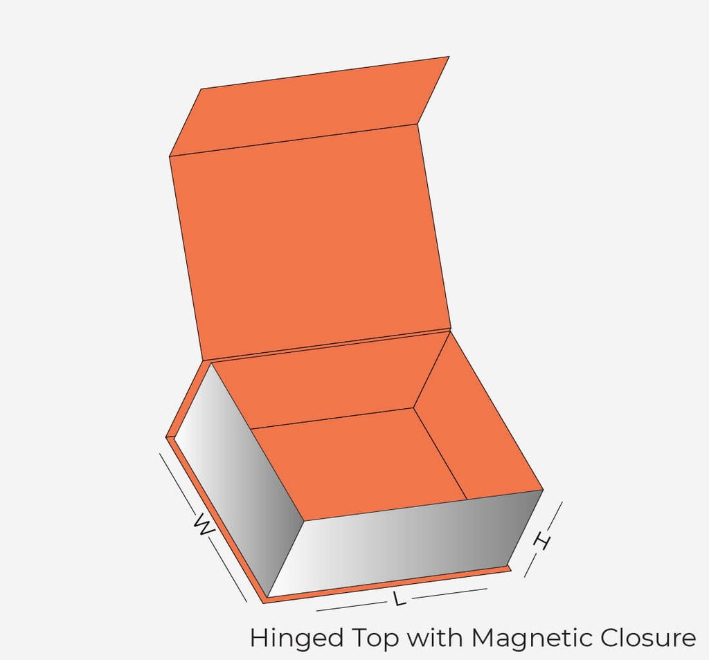 Hinged Top with Magnetic Closure