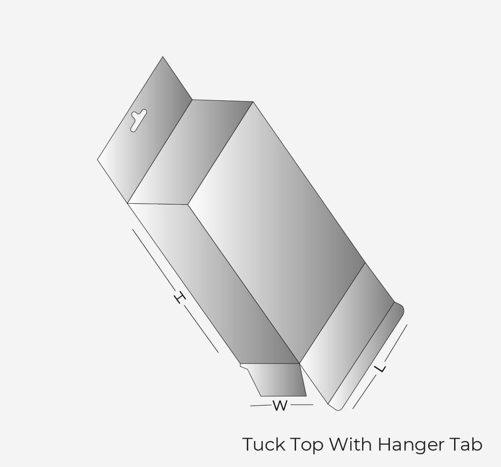 Tuck Top With Hanger Tab Box