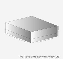 Two Piece Simplex With Shallow Lid